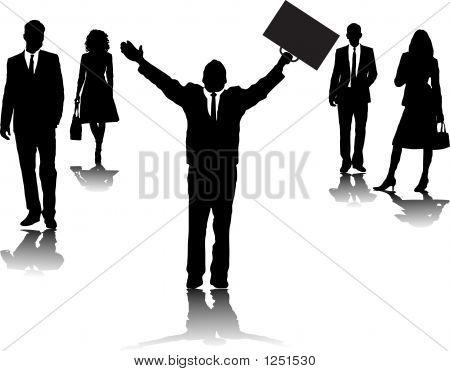 Business-Leute beten