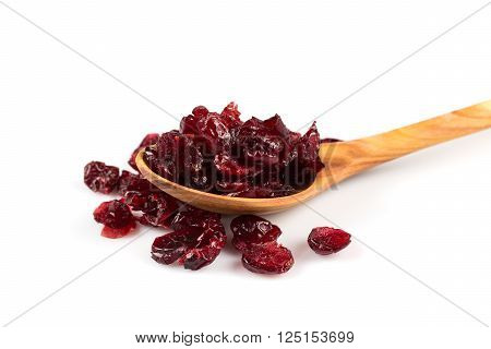 Dried Cranberries  On White