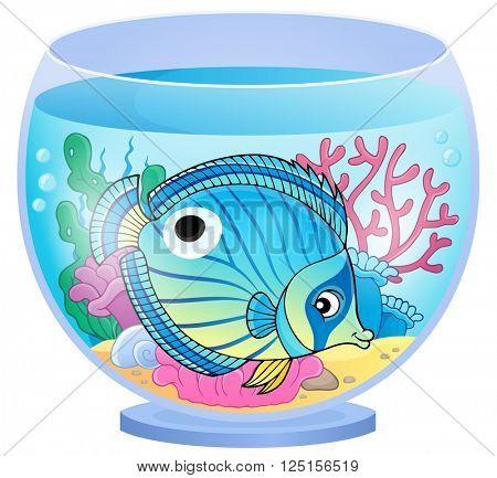 Aquarium topic image 4 - eps10 vector illustration.