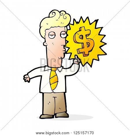 cartoon rich man