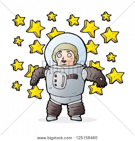 cartoon awesome astronaut