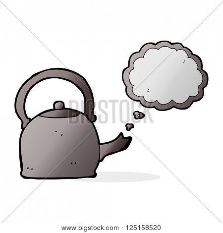 cartoon boiling kettle