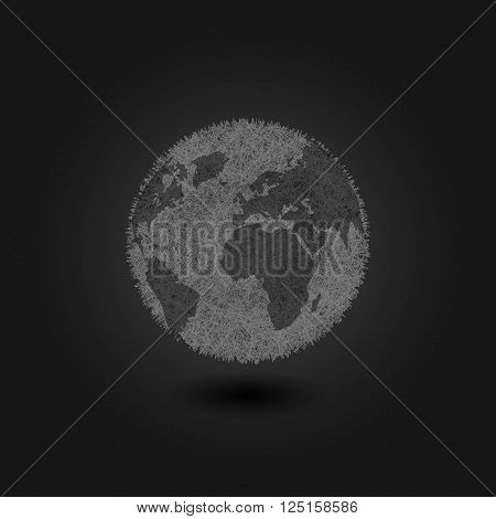 Pollution Environment Planet Earth Concept Background, Creative Grunge Poster Ecological Catastrophe