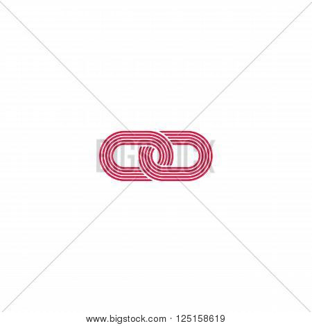 Link logo intersection chain links abstract infinity symbol idea media communication emblem loops simple geometric
