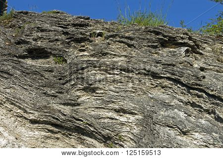 Closeup of Travertine terraces at Pyatigorsk,Northern Caucasus,Russia.
