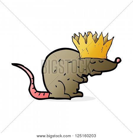 cartoon rat wearing a crown