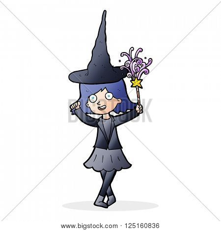 cartoon hapy witch
