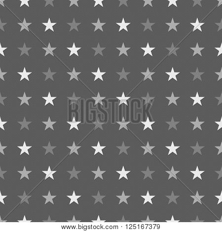 Seamles Star Pattern In Greyscale Colors