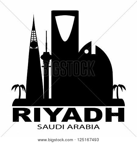 Riyadh city in Saudi Arabia skyline silhouette