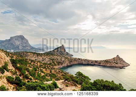 Cape Capchik Crimea Russia. Beautiful landscape landmark of Crimea.