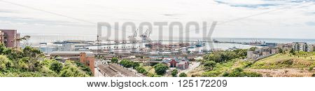 PORT ELIZABETH, SOUTH AFRICA - FEBRUARY 27, 2016: A view of the harbour as seen from the historic Fort Frederick
