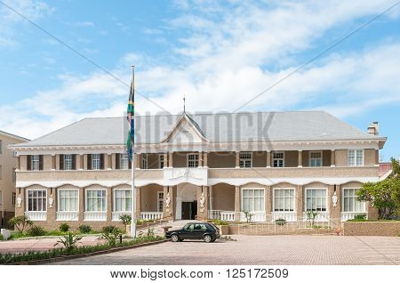 PORT ELIZABETH SOUTH AFRICA - FEBRUARY 27 2016: The building of the Port Elizabeth St Georges Club was built in circa 1904