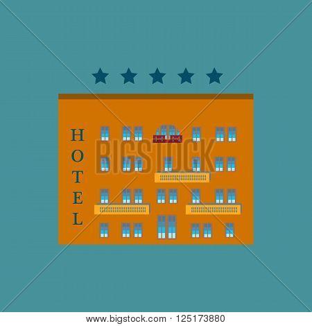 Hotel five stars. Hotel icon. Hotel icon vector. Hotel icon illustration.