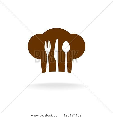 Cooking Hat Silhouette With Cutlery Inside Title Menu Logo
