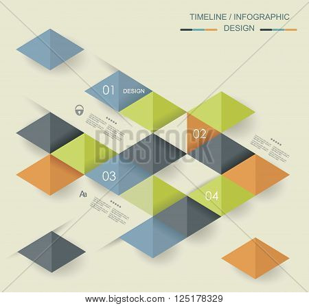 Vector Geometric Abstract Background With Triangle Line Stripe Pattern
