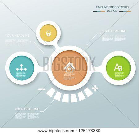 Minimal Timeline Infographic Design.