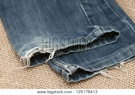 Photo of old clothes on the background fabric