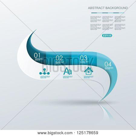 Minimal Timeline Or Option Line Design.