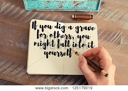 Handwritten Quote As Inspirational Concept Image