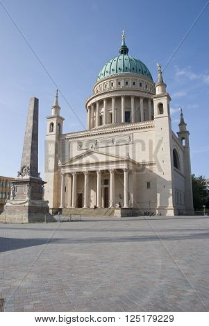 Nikolai Church located in Potsdam. Berlin Germany.