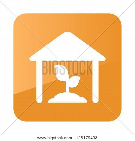 Greenhouse icon outline. Farm. Vector illustration eps 10