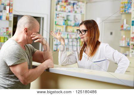 Upset Pharmacy Customer