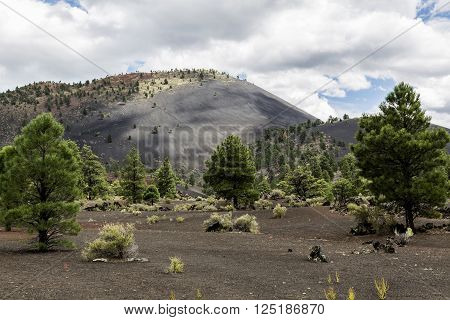 Sunset Crater volcanic cinder cone in Sunset Crater National Monument 