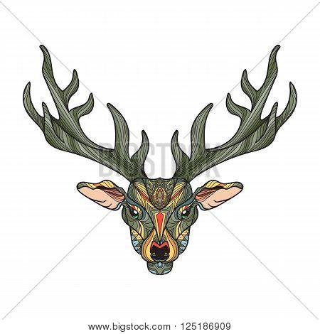 Deer Head With Horns