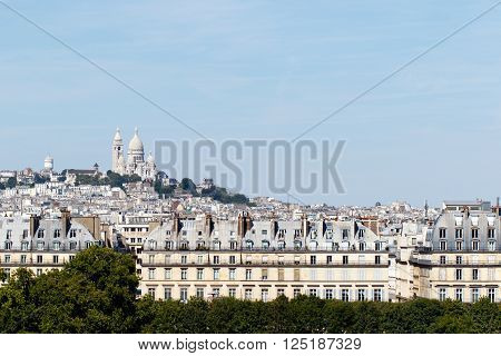 Color DSLR stock image of Basilica of the Sacre C
