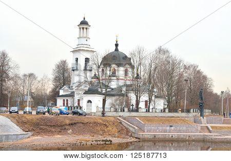 Church of St. Alexander Nevsky in Ust-Izhora town St.Petersburg suburb Russia.