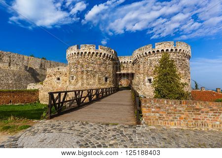 Kalemegdan fortress in Belgrade - Serbia - architecture travel background
