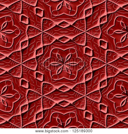 Seamless texture of brown Mayan ornaments / background