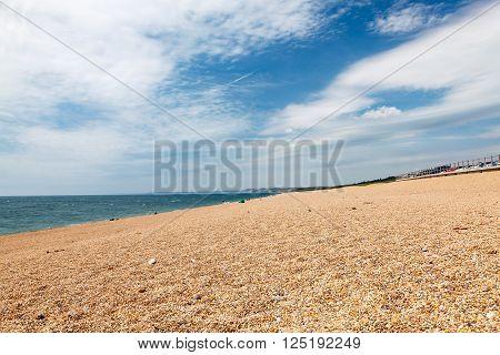 The shingle beach at West Bexington Dorset England UK Europe