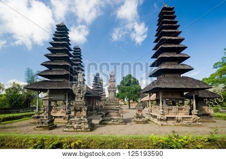 Large pagodas sacred temple of Pura Penetaran Agung Besakih Balinese Hinduism Banjar Besakih Bali Indonesia