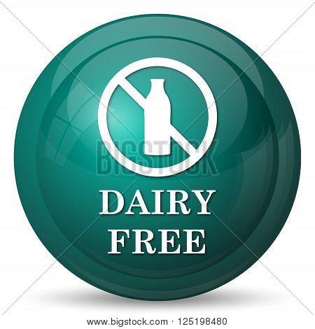 Dairy free icon. Internet button on white background.