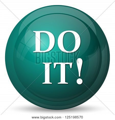 Do it icon. Internet button on white background.