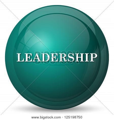 Leadership icon. Cyan internet button on white background.