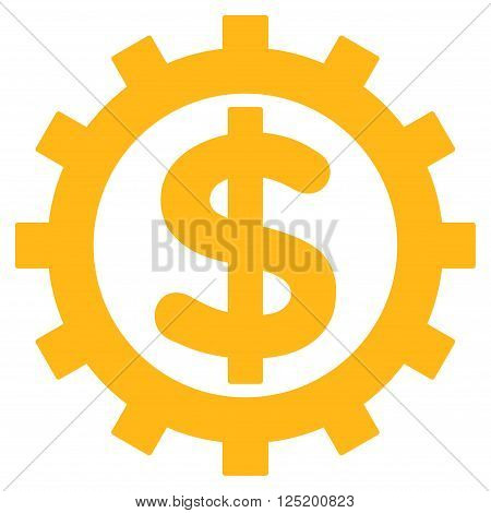 Financial Industry vector icon. Financial Industry icon symbol. Financial Industry icon image. Financial Industry icon picture. Financial Industry pictogram. Flat yellow financial industry icon.