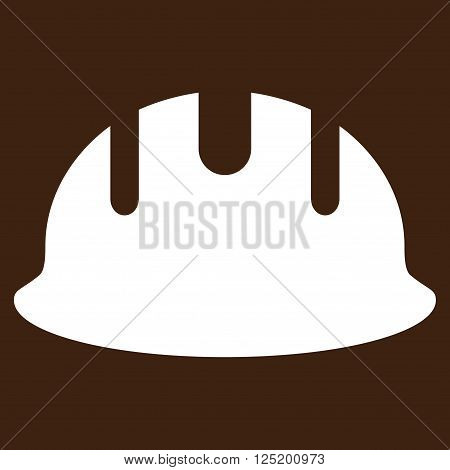 Builder Hardhat vector icon. Builder Hardhat icon symbol. Builder Hardhat icon image. Builder Hardhat icon picture. Builder Hardhat pictogram. Flat white builder hardhat icon.