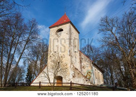 An old lutheran church in Ivande, Latvia