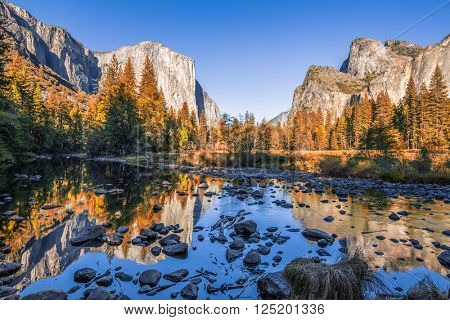 Typical view of the Yosemite National Park