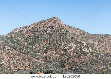 Mountain range at Mission Trails Regional Park in San Diego, California.