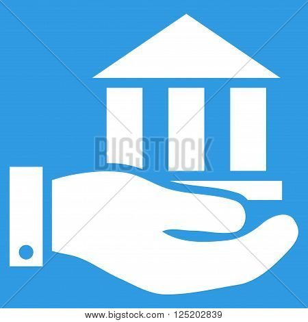 Bank Service vector icon. Bank Service icon symbol. Bank Service icon image. Bank Service icon picture. Bank Service pictogram. Flat white bank service icon. Isolated bank service icon graphic.