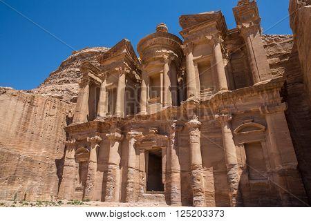 d Deir, The Monastery Temple of Petra, Jordan
