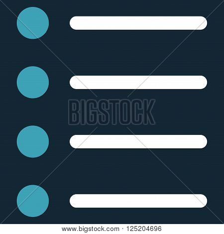 Items vector icon. Items icon symbol. Items icon image. Items icon picture. Items pictogram. Flat blue and white items icon. Isolated items icon graphic. Items icon illustration.