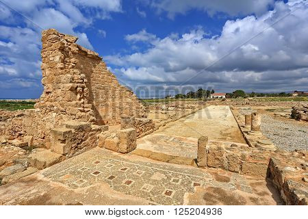 Ruins of the ancient city of Paphos, Cyprus