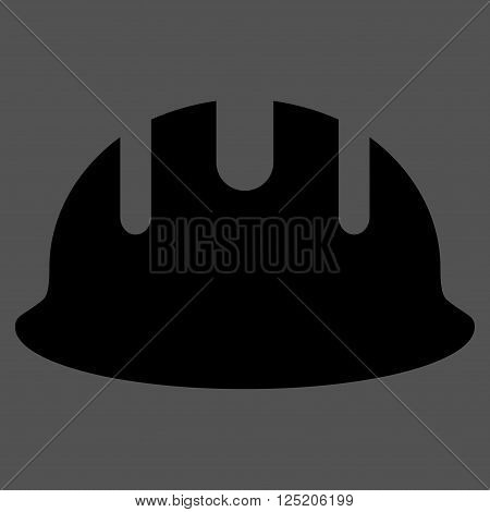 Builder Hardhat vector icon. Builder Hardhat icon symbol. Builder Hardhat icon image. Builder Hardhat icon picture. Builder Hardhat pictogram. Flat black builder hardhat icon.