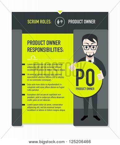 Scrum roles - Product owner responsibilities template in scrum development process