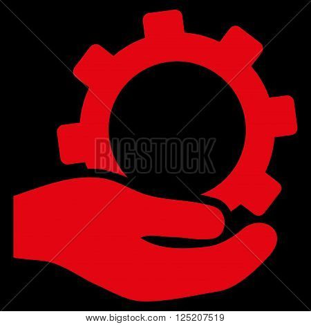 Service vector icon. Service icon symbol. Service icon image. Service icon picture. Service pictogram. Flat red service icon. Isolated service icon graphic. Service icon illustration.