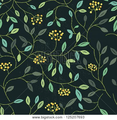Floral Summer Seamless Pattern. Repeating floral elements background. Vector illustration